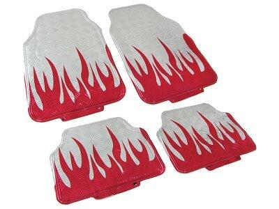 Tepih za auto bijeli/Plamen izgled (univerzalno)