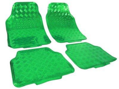 Tepih za auto Kromiran/Zelen izgled (univerzalno)