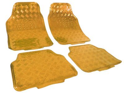 Tepih za auto Kromiran/Zlatnini izgled (univerzalno)