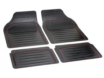 Tepih za auto univerzalni (gumeni), 14035 crveni rub