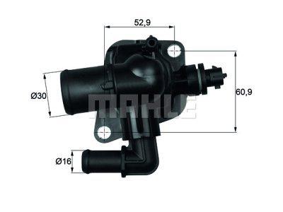 Termostat TI15088 - Peugeot Bipper 08-