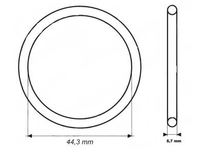 Tesnilo termostata  UOR03 - 44,2x5,7 mm