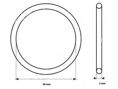 Tesnilo termostata UOR04 - 48x3 mm