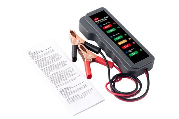 Tester akumulatorja, 9W, 12V, 3 testi