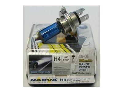 TWIN SET žarnic NARVA H4 RANGE POWER WHITE 100/90W