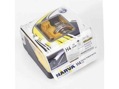 TWIN SET žarnic NARVA H4 RANGE POWER WHITE