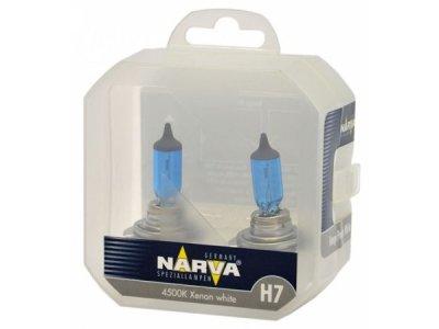 TWIN SET žarnic NARVA H7 RANGE POWER WHITE, 55W