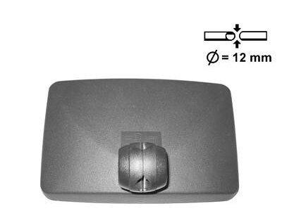 universal Gehäuse mit rückspiegel 205 x140mm konvex