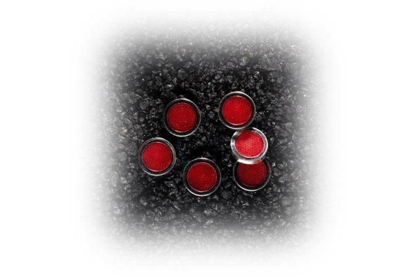 Univerzalni katadiopter (mačje oči) 6 komada crvena, 60825