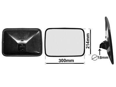 Univerzalno notranje ogledalo (pravokotno) 300x214mm