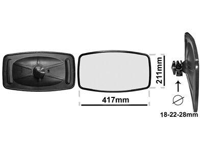 Univerzalno notranje ogledalo (pravokotno) 417x211mm