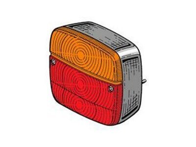 Univerzalno stražnje svjetlo 108x100x50