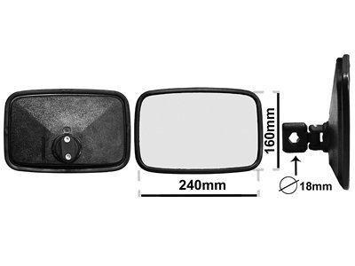 Univerzalno unutrašnje ogledalo (pravougaono) 160x240mm
