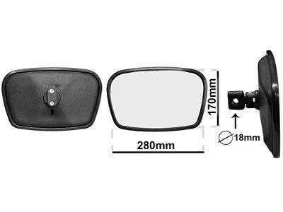 Univerzalno unutrašnje ogledalo (pravougaono) 170x280mm