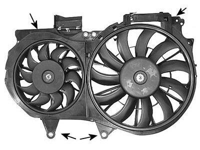 Ventilator hladilnika Audi A4 00- 1.8