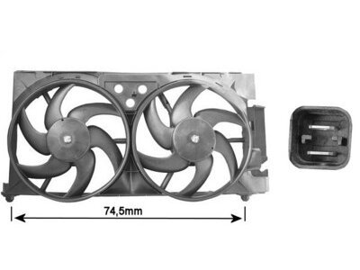 Ventilator hladilnika Citroen Xsara 97-00 (340mm, dizel)