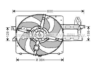 Ventilator hladilnika Ford Escort 95- za klimo