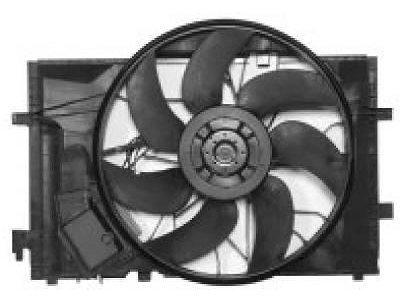 Ventilator hladilnika Mercedes C W203 00-07