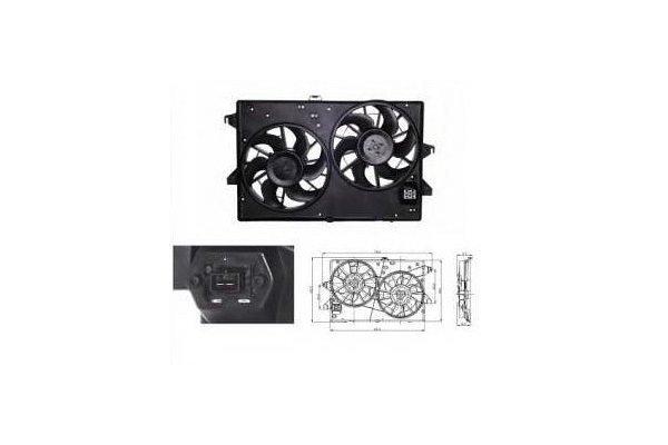 Ventilator hladnjaka 321823W3 - Ford Mondeo 00-07