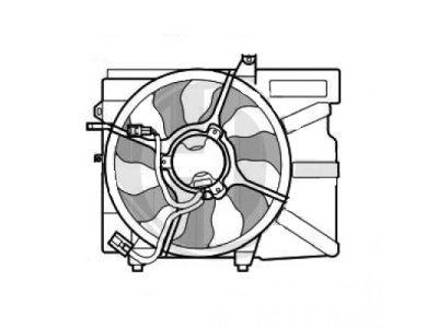 Ventilator hladnjaka 404223W4X - HYUNDAI GETZ (TB), 02-11