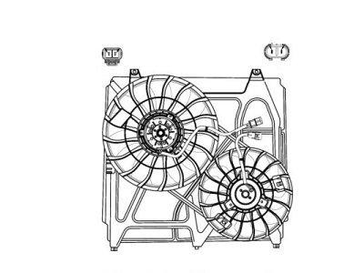 Ventilator hladnjaka 417023W1X - KIA SORENTO (JC), OEM, 02-09