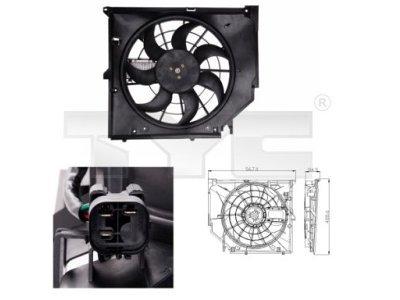 Ventilator hladnjaka 803-0005 - BMW Serije 3 98-06