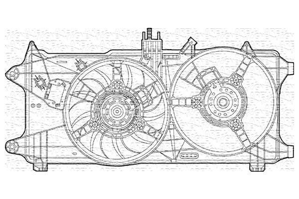 Ventilator hladnjaka Fiat Doblo 00-> diesel AC-