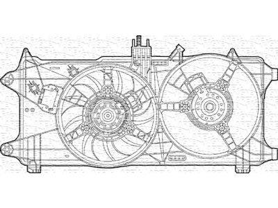 Ventilator hladnjaka Fiat Doblo 00- diesel AC-