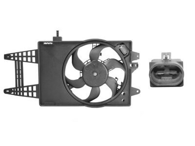 Ventilator hladnjaka Fiat Punto 00-03 z regulatorom
