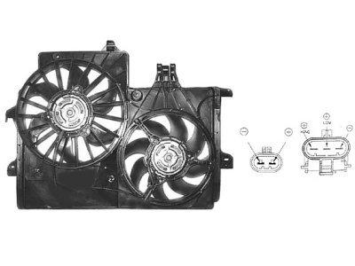 Ventilator hladnjaka Opel Meriva -10 (za klimu, 1,7 DTi)