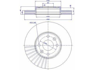 vordere Bremsscheiben S71-0062 - Renault