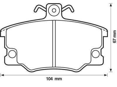 Vorderer Bremsbelag   S70-0075 - Alfa, Fiat