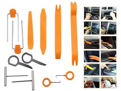 Werkzeug- und Kunststoffset für die Demontage von Innenteilen im Auto - Silux Parts (12 Stück)