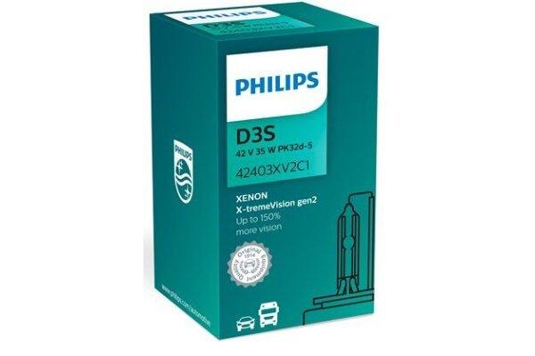 Xenon Žarulja D3S Philips X-TremeVision 4800K - PH42403XV2C1