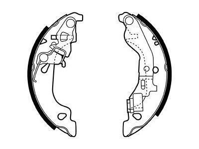 Zadnje čeljusti kočnica S72-1093 - Fiat Punto 99-06