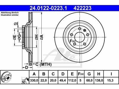 Zadnje disk kočnice Audi A6 04-11
