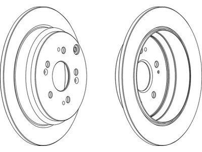 Zadnje disk kočnice BG9031RS - Opel Vivaro 01-14