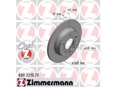 Zadnje disk kočnice600.3210.20 - Volkswagen Sharan 95-10