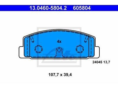 Zadnje kočione obloge 13.0460-5804.2 - Mazda