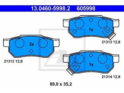 Zadnje kočione obloge 13.0460-5998.2 - Honda Accord 85-89