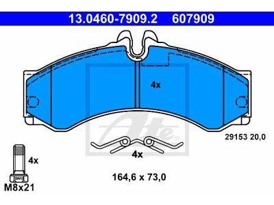 Zadnje kočione obloge 13.0460-7909.2 - Mercedes-Benz Benz, Volkswagen
