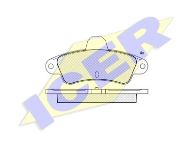 Zadnje kočione obloge IE180918 - Ford Mondeo 93-00