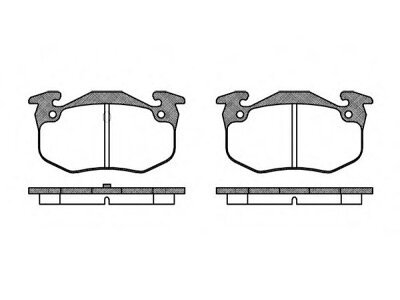 Zadnje kočione obloge S70-1103 - Citroen, Peugeot, Renault