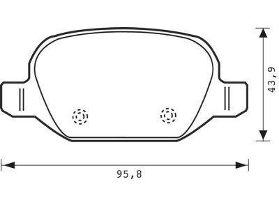 Zadnje kočione obloge S70-1141  - Alfa Romeo 147 00-10