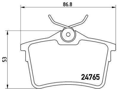 Zadnje kočione obloge S70-1488 - Citroen, Peugeot