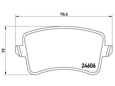 Zadnje kočione obloge S70-1498 - Audi