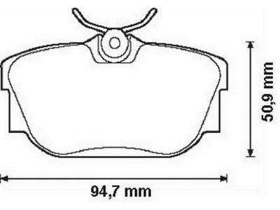 Zadnje kočione pakne S70-1086 - Opel, Renault
