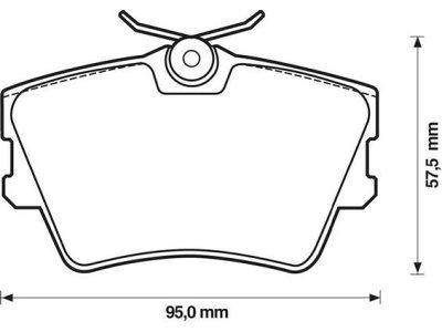 Zadnje kočione pakne S70-1129 - Opel, Renault