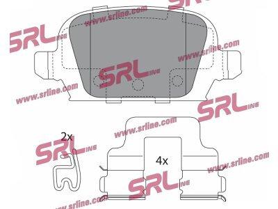 Zadnje kočione pločice S70-1538 - Opel Combo 00-10