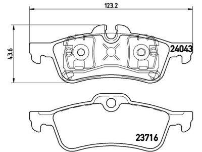 Zadnje kočione pločiceS70-1347 - Mini Cooper 01-07